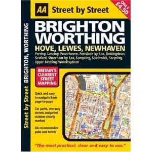 AA Street by Street Brighton, Worthing: Midi