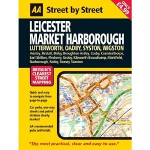 AA Street by Street Leicester, Market Harborough: Midi