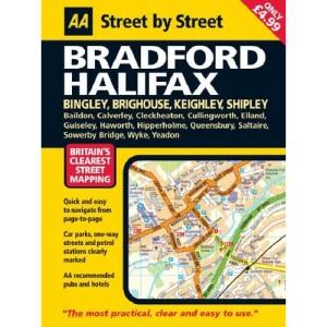 AA Street by Street Bradford, Halifax: Midi