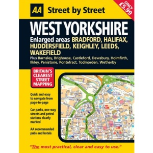 AA Street by Street West Yorkshire: Midi
