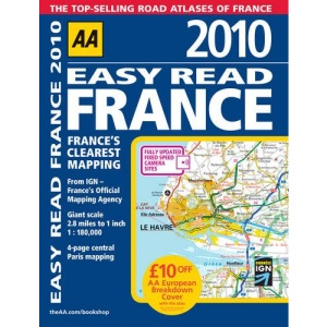 Easy Read France 2010 PB (AA Atlases and Maps)