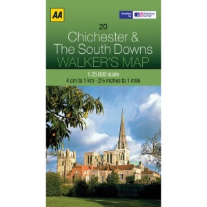 Walkers Map Chichester and The South Downs