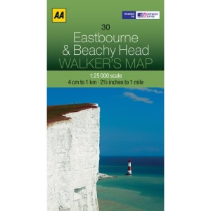 Walkers Map Eastbourne and Beachy Head