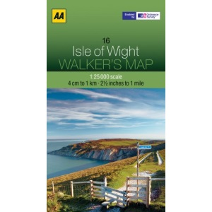 Walkers Map The Isle of Wight
