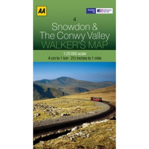 Walkers Map Snowdon and The Conwy Valley