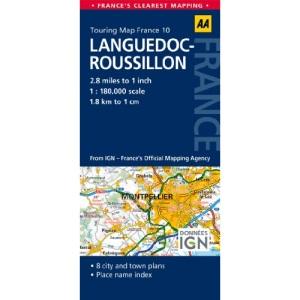 AA Road Map Languedoc-Roussillon (AA Touring Map France 10): AA Road Map France
