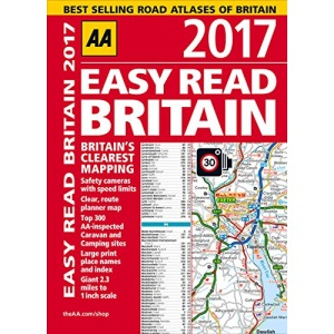 AA Easy Read Britain 2017 (AA Road Atlas) (Easy Read Guides)