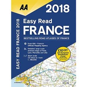 AA Easy Read France 2018 (AA Road Atlas) (Aa Road Atlas France)