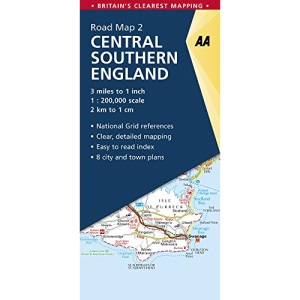 AA Road Map Central Southern England (AA Road Map Series 02) (AA Road Map Britain)