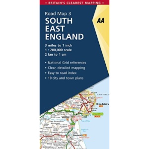 AA Road Map South East England (AA Road Map Series 03) (AA Road Map Britain)