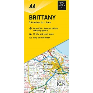 Road Map Brittany (AA Touring Map France 01) (AA Road Map France Series)