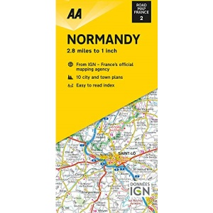 Road Map Normandy (AA Touring Map France 02) (AA Road Map France Series)