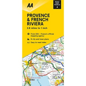 Road Map Provence & French Riviera (AA Touring Map France 04) (AA Road Map France Series)
