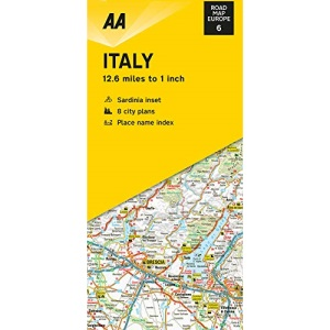 Road Map Italy (AA Road Map Europe 06) (AA Road Map Europe Series)