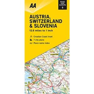 Road Map Austria, Switzerland & Slovenia (AA Road Map Europe 05) (AA Road Map Europe Series)