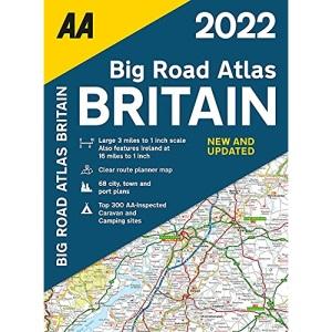 AA Big Road Atlas Britain 2022 Paperback (AA Road Atlas Britain) (Big Road Atlas Britan 2022)