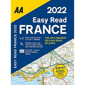 AA Easy Read Atlas France 2022 Flexi Bound (AA Road Atlas France) (Easy Read France 2022)