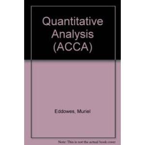 Quantitative Analysis (ACCA)