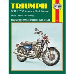 Triumph 650 and 750 4 Valve Unit Twins Owner's Workshop Manual (Motorcycle Manuals)