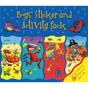 Summer Holiday Sticker Pack Boys - Dinosaurs, Vehicles, fun, 4 Great Books in a Wallet pack - Igloo Books Ltd (Sticker Activity Wallet)