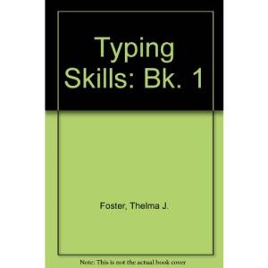 Typing Skills: Bk. 1