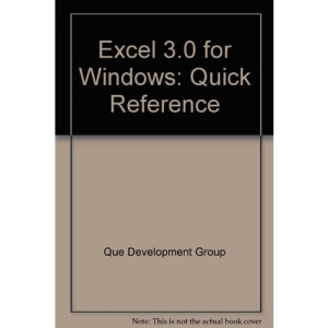 Excel 3.0 for Windows: Quick Reference