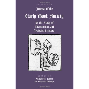 Journal of the Early Book Society, Volume Twelve: 12