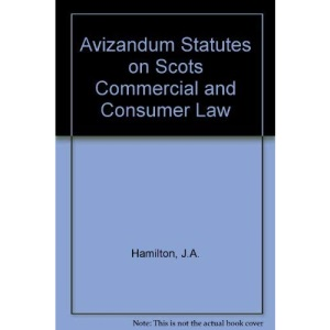 Avizandum Statutes on Scots Commercial and Consumer Law