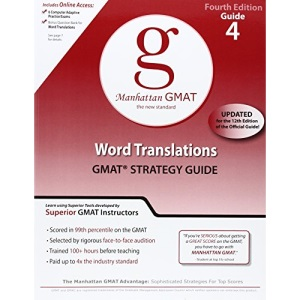 Word Translations GMAT Preparation Guide (Manhattan GMAT Preparation Guide: Word Translations)