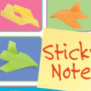 Sticky Note Paper Airplanes