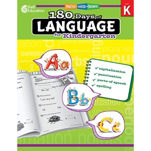 180 Days of Language for Kindergarten: Practice, Assess, Diagnose (180 Days of Practice)