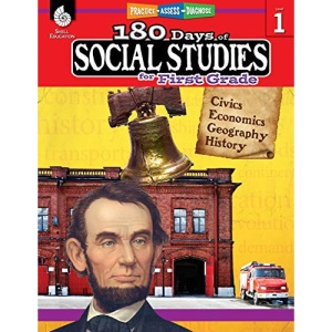 180 Days of Social Studies for First Grade: Practice, Assess, Diagnose (180 Days of Practice)