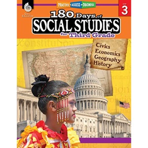 180 Days of Social Studies for Third Grade: Practice, Assess, Diagnose (180 Days of Practice)
