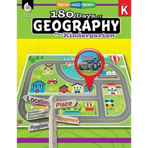 180 Days of Geography for Kindergarten: Practice, Assess, Diagnose (180 Days of Practice)