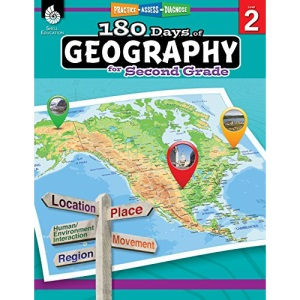180 Days of Geography for Second Grade: Practice, Assess, Diagnose (180 Days of Practice)