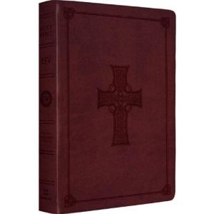 ESV Large Print Thinline Reference Bible (TruTone, Burgundy, Celtic Cross)