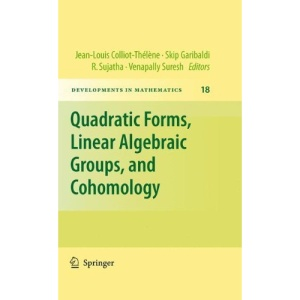 Quadratic Forms, Linear Algebraic Groups, and Cohomology (Developments in Mathematics)