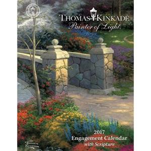 Thomas Kinkade Painter of Light with Scripture 2017 Weekly Desk Diary