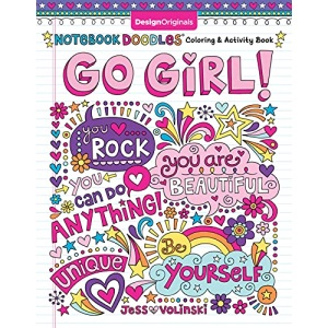 Notebook Doodles Go Girl!: Coloring & Activity Book (Design Originals) 30 Inspiring Designs; Beginner-Friendly Empowering Art Activities for Tweens, on High-Quality Extra-Thick Perforated Paper: 6