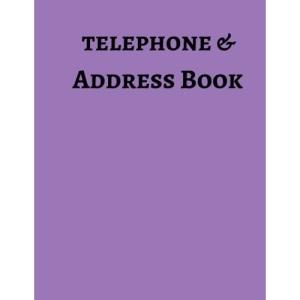 Telephone & Address Book: Volume 10 (Large Print)