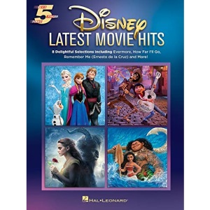 Five Finger Piano Songbook: Disney Latest Movie Hits