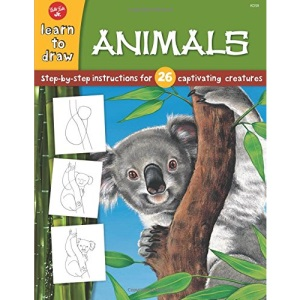 Animals: Step by Step Instructions for 26 Captivating Creatures (Draw and Color)