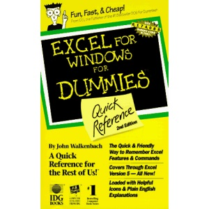Excel 5 for Windows for Dummies Quick Reference