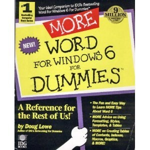 More WORD 6 for Windows for Dummies