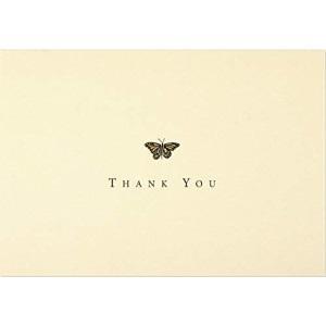 Gold Butterfly Thank You Notes (Stationery, Note Cards) (Note Card Series)