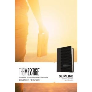 The Message Slimline Charcoal Diamond, LeatherLike