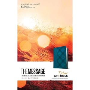 Message Deluxe Gift Bible, Denim Leather-Look: The Bible in Contemporary Language