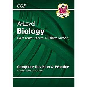 A-Level Biology: Edexcel A Year 1 & 2 Complete Revision & Practice with Online Edition: ideal for catch-up and the 2022 and 2023 exams (CGP A-Level Biology)