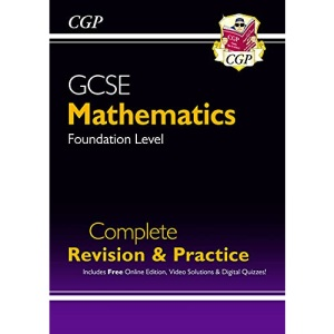 New 2021 GCSE Maths Complete Revision & Practice: Foundation inc Online Ed, Videos & Quizzes: perfect for catch-up and the 2022 and 2023 exams (CGP GCSE Maths 9-1 Revision)