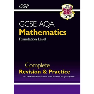 New 2021 GCSE Maths AQA Complete Revision & Practice: Foundation inc Online Ed, Videos & Quizzes: ideal for catch-up and the 2022 and 2023 exams (CGP GCSE Maths 9-1 Revision)